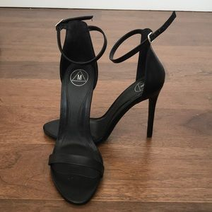 Misguided Strappy Black Heels